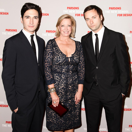Bonnie Brooks with Lazaro Hernandez and Jack McCollough of Proenza Schouler