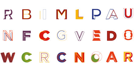 Ruedi Baur Typeface for The New School
