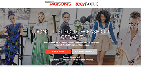 Teenvoguexparsons The New School News Releases