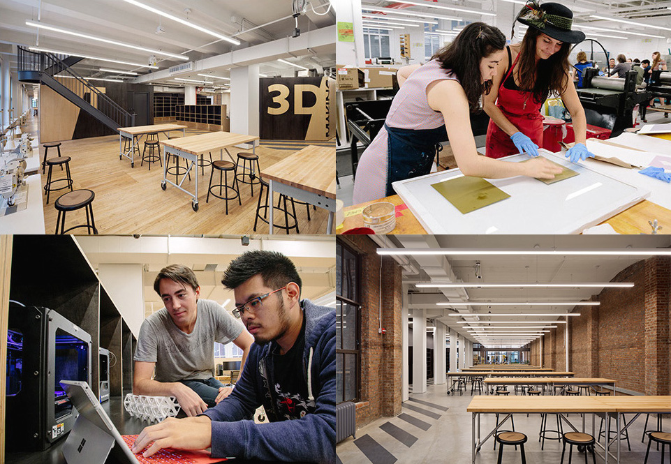 Parsons Making Center Anchors A Network Of Integrated Campus Spaces That Provide All New School Students With State The Art Tools To Design